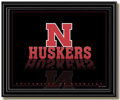 Nebraska Huskers Reflection Framed Picture