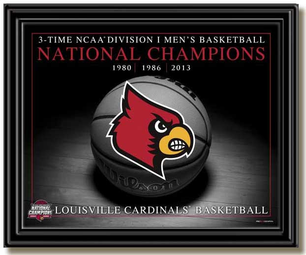 Louisville 3-Time National Champions Framed Picture