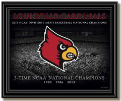 Louisville 3-Time National Champions Arena Framed Picture