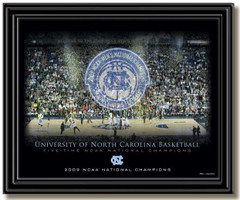 UNC 2009 National Champions Framed Celebration Picture