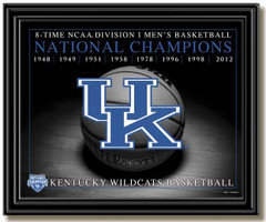 Kentucky Wildcats 8-Time National Championship Framed Picture