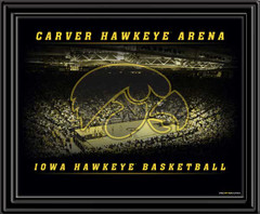 Iowa Carver Hawkeye Arena Basketball Framed Print