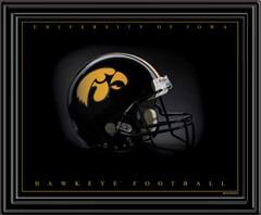 University of Iowa Hawkeyes Football Helmet Framed Print