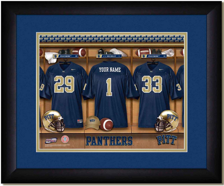Pitt Panthers Football Personalized Locker Room Poster