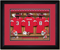 Utah Utes Football Personalized Locker Room Poster