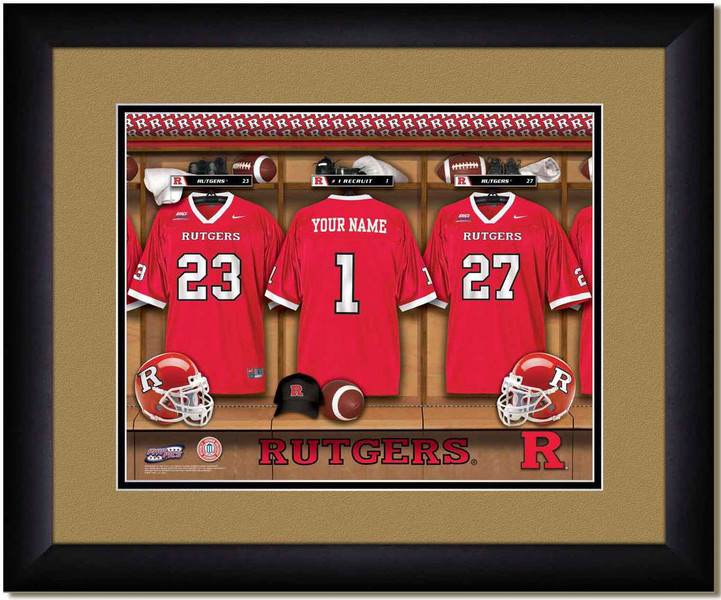 Rutgers Football Personalized Locker Room Poster