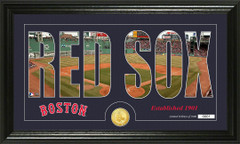 Boston Red Sox Word Art Coin Panoramic Photo Mint