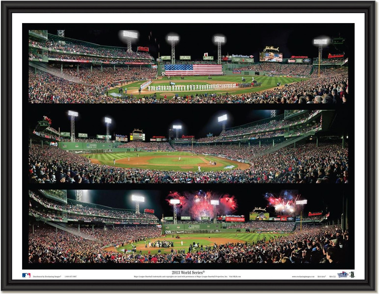 Boston Red Sox 2013 Triple Collage Framed Picture
