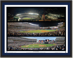 New York Yankees Stadium Triple Collage Framed Picture