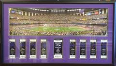 Game ticket framing season tickets