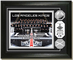 LA Kings 2014 Stanley Cup Team, Net and Coin