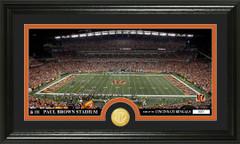 Cincinnati Bengals Paul Brown Stadium Bronze Coin Photo Mint