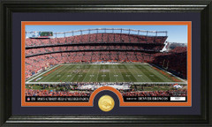 Denver Broncos Stadium Bronze Coin Photo Mint