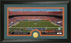 Miami Dolphins Sun Life Stadium Bronze Coin Photo Mint
