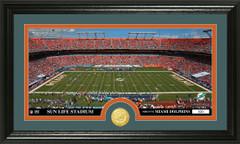 Miami Dolphins Sun Life Stadium Bronze Coin Photo Mint