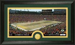 Green Bay Lambeau Field Stadium Bronze Coin Photo Mint