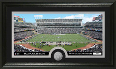 Oakland Raiders O.Co Stadium Bronze Coin Photo Mint