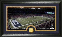 St. Louis Rams Edward Jones Stadium Bronze Coin Photo Mint
