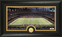 Saints Mercedes Benz Superdome Bronze Coin Photo Mint
