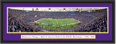 Minnesota Vikings Last Game at the Metrodome Framed Poster