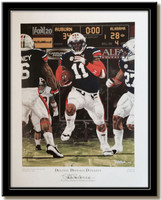 Auburn Destiny Defeats Dynasty Framed Poster no mat