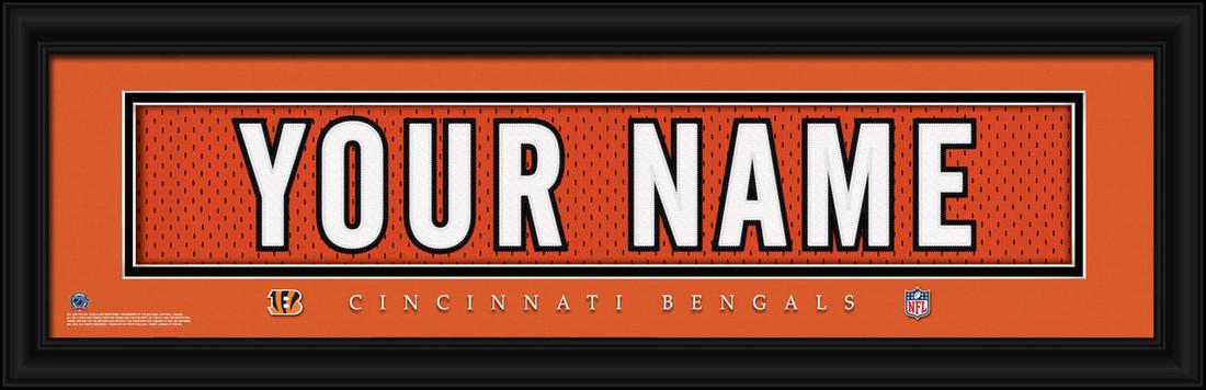 Cincinnati Bears Personalized Jersey Nameplate Framed Print