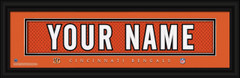 Cincinnati Bears Personalized Jersey Nameplate Framed Print