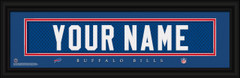 Buffalo Bills Personalized Jersey Nameplate Framed Print