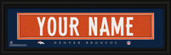 Denver Broncos Personalized Jersey Nameplate Framed Print