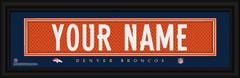 Denver Broncos Personalized Jersey Nameplate Framed Print