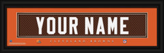 Cleveland Browns Personalized Jersey Nameplate Framed Print