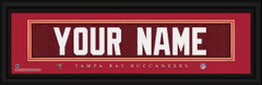 Tampa Bay Buccaneers Personalized Jersey Nameplate Framed Print