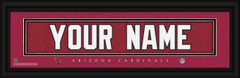 Arizona Cardinals Personalized Jersey Nameplate Framed Print
