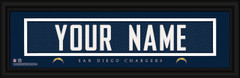 San Diego Chargers Personalized Jersey Nameplate Framed Print