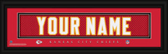 Kansas City Chiefs Personalized Jersey Nameplate Framed Print