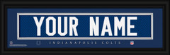 Indianapolis Colts Personalized Jersey Nameplate Framed Print