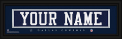 Dallas Cowboys Personalized Jersey Nameplate Framed Print