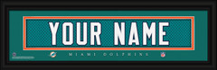 Miami Dolphins Personalized Jersey Nameplate Framed Print