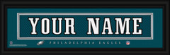 Philadelphia Eagles Personalized Jersey Nameplate Framed Print