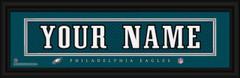 Philadelphia Eagles Personalized Jersey Nameplate Framed Print