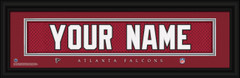 Atlanta Falcons Personalized Jersey Nameplate Framed Print