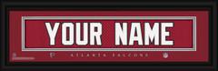 Atlanta Falcons Personalized Jersey Nameplate Framed Print