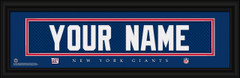 New York Giants Personalized Jersey Nameplate Framed Print