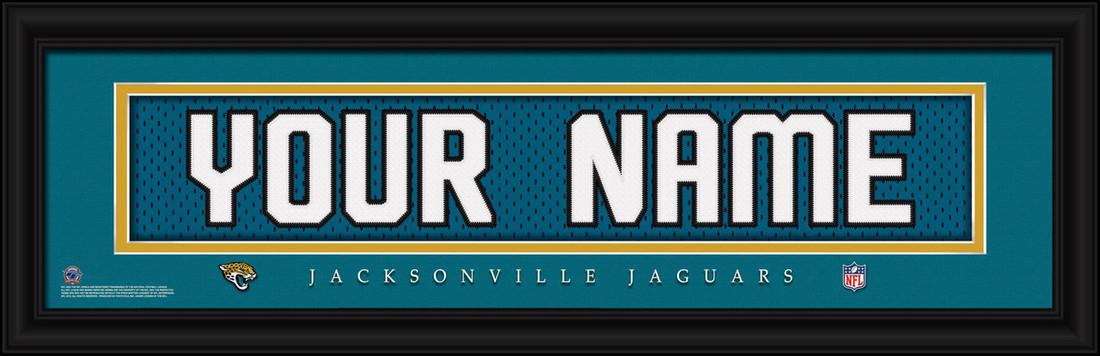 Jacksonville Jaguars Personalized Jersey Nameplate Framed Print