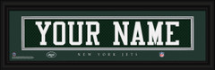 New York Jets Personalized Jersey Nameplate Framed Print