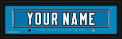Carolina Panthers Personalized Jersey Nameplate Framed Print