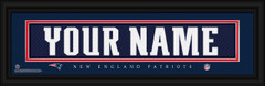 New England Patriots Personalized Jersey Nameplate Framed Print