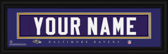 Baltimore Ravens Personalized Jersey Nameplate Framed Print