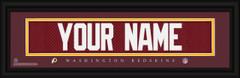 Washington Redskins Personalized Jersey Nameplate Framed Print