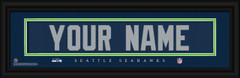 Seattle Seahawks Personalized Jersey Nameplate Framed Print